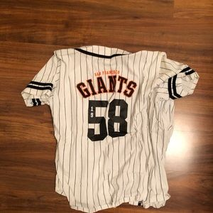 VS Pink SF giants jersey shirt